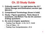 ch 23 study guide