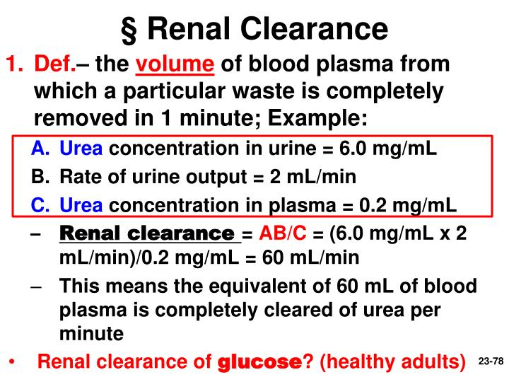 § Renal Clearance