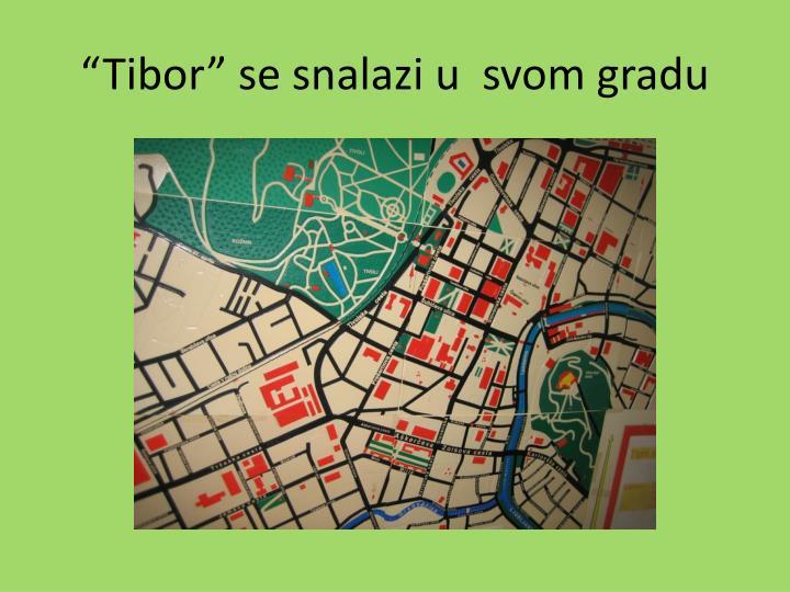 """""""Tibor"""" se snalazi u  svom gradu"""