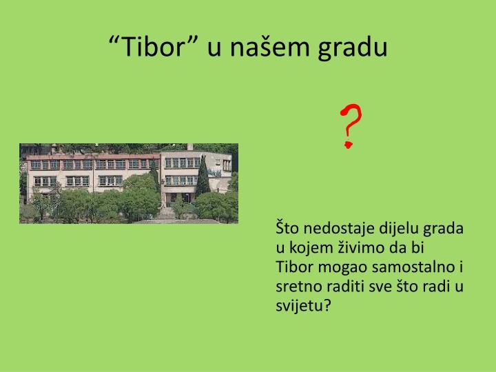 """""""Tibor"""" u našem gradu"""