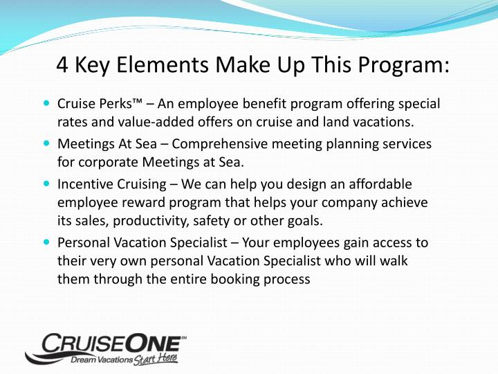 4 Key Elements Make Up This Program: