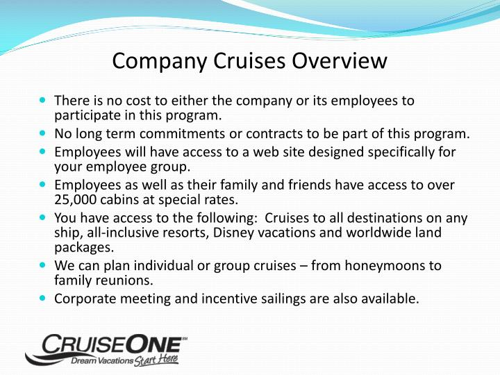 Company Cruises Overview