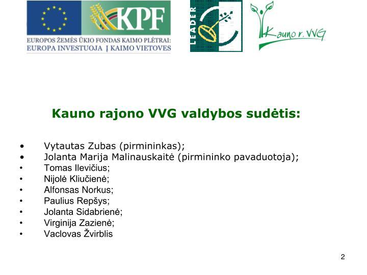 Kauno rajono VVG valdybos sudtis: