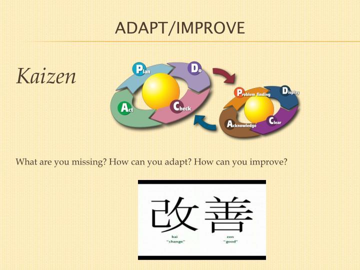 ADAPT/IMPROVE