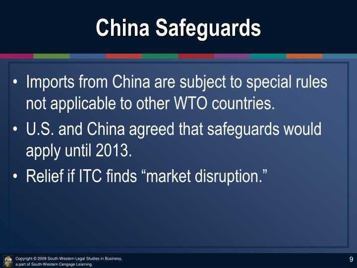 China Safeguards