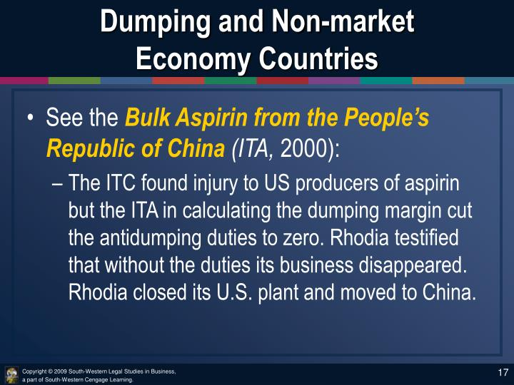 Dumping and Non-market