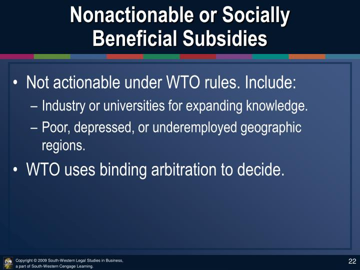 Nonactionable or Socially