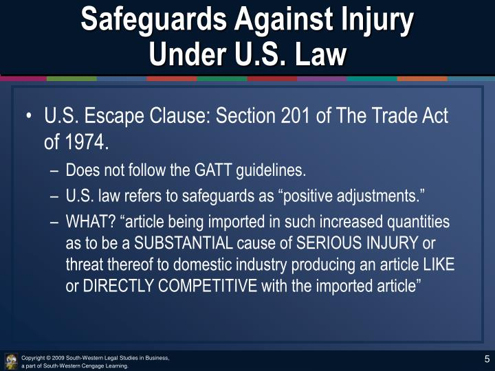 Safeguards Against Injury