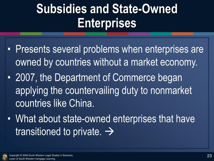 Subsidies and State-Owned