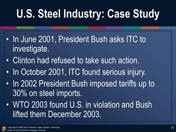 U.S. Steel Industry: Case Study