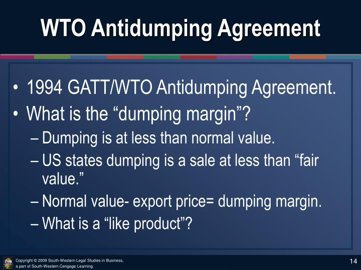 WTO Antidumping Agreement