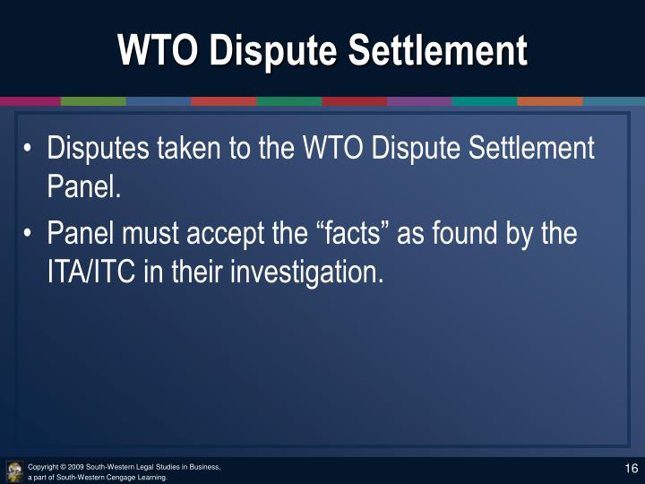 WTO Dispute Settlement
