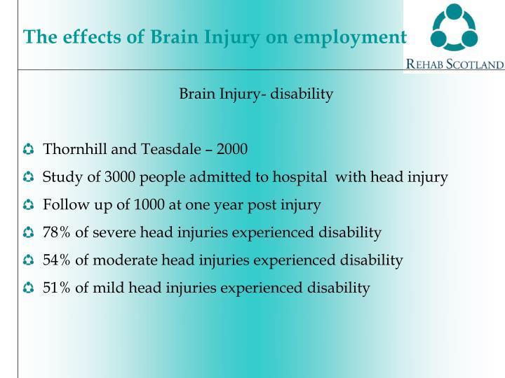 Brain Injury- disability