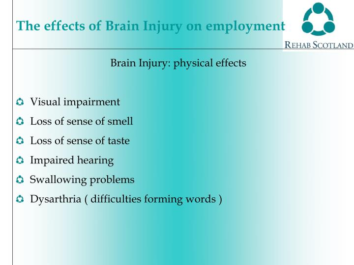 Brain Injury: physical effects