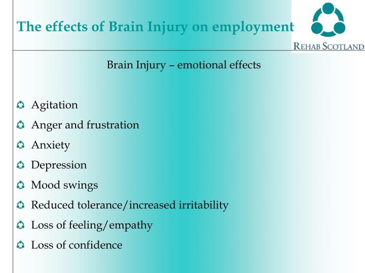 Brain Injury – emotional effects