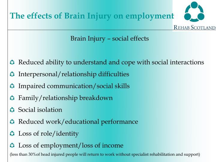 Brain Injury – social effects