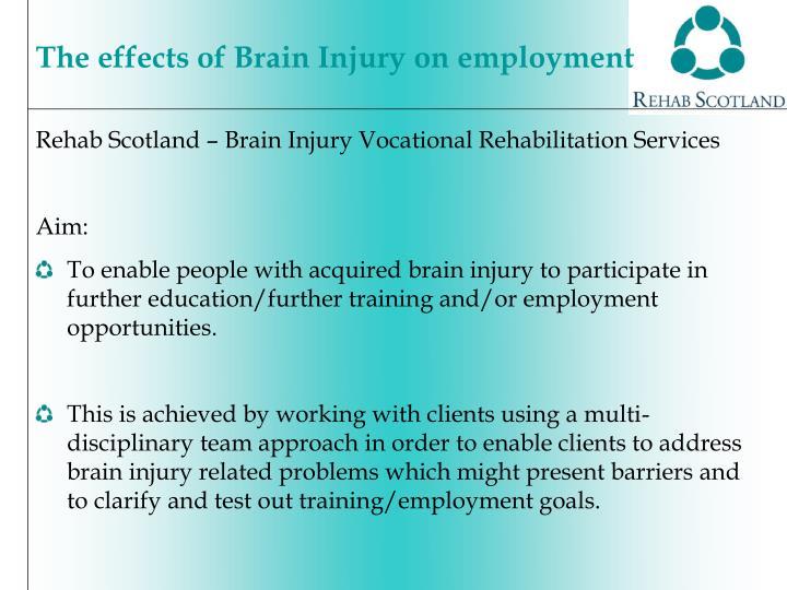 Rehab Scotland – Brain Injury Vocational Rehabilitation Services