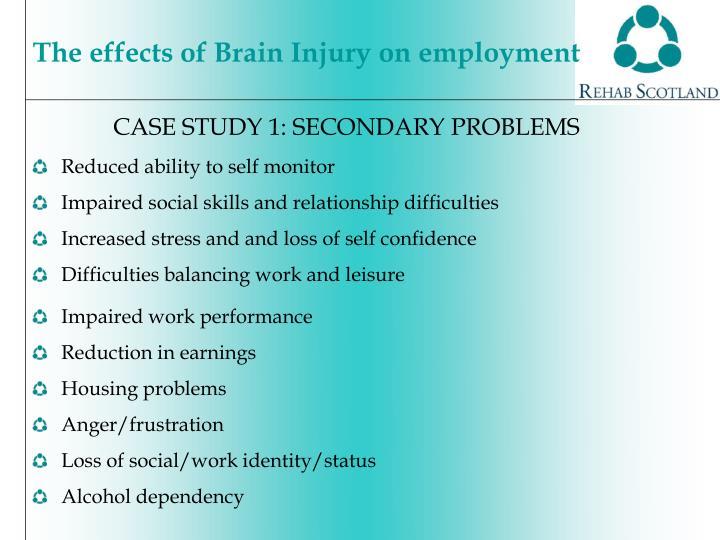 CASE STUDY 1: SECONDARY PROBLEMS