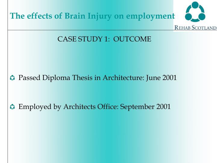 CASE STUDY 1:  OUTCOME