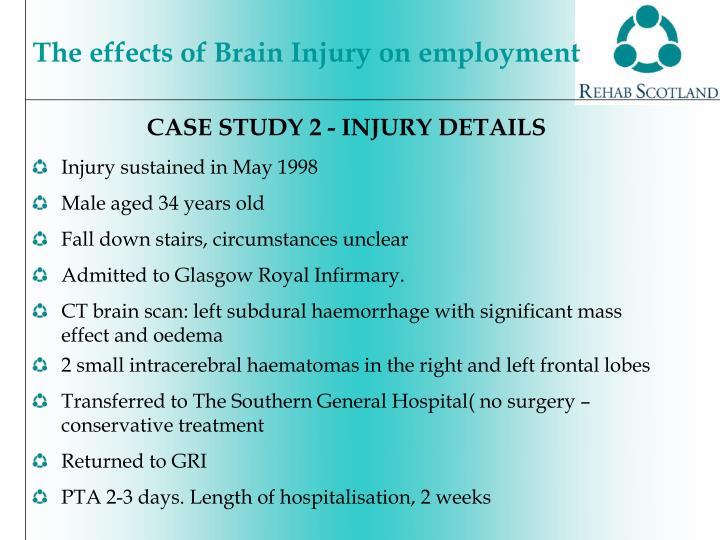 CASE STUDY 2 - INJURY DETAILS