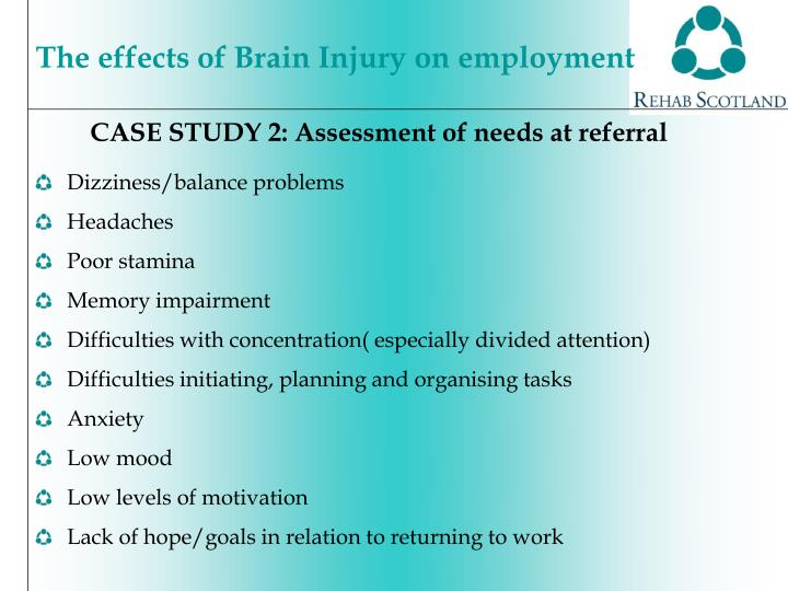 CASE STUDY 2: Assessment of needs at referral