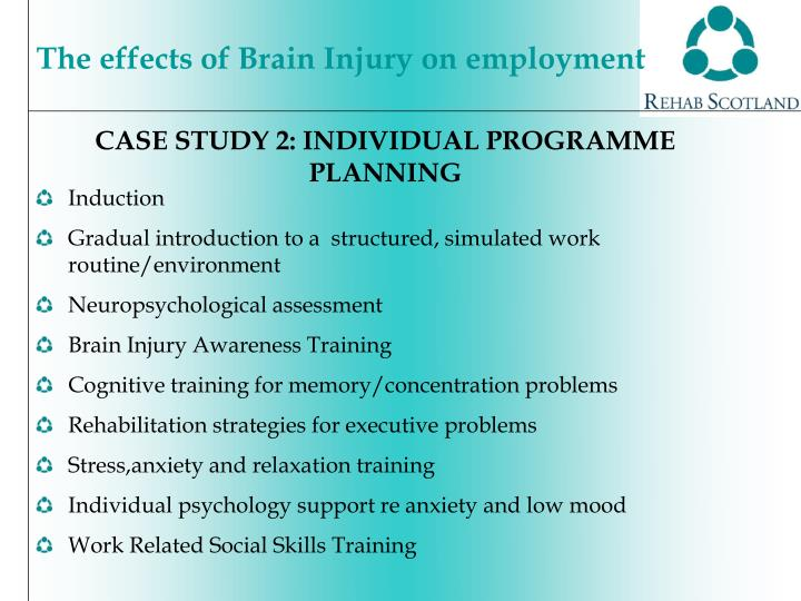 CASE STUDY 2: INDIVIDUAL PROGRAMME PLANNING