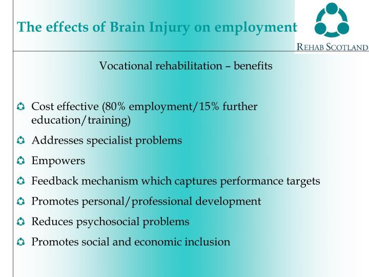 Vocational rehabilitation – benefits
