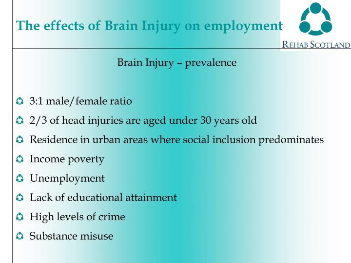 Brain Injury – prevalence