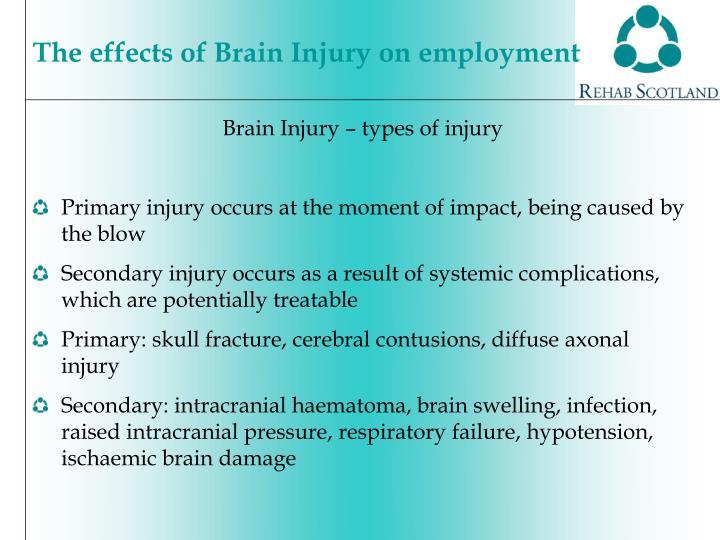 Brain Injury – types of injury