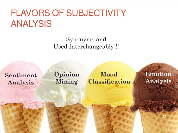 FLAVORS OF SUBJECTIVITY ANALYSIS