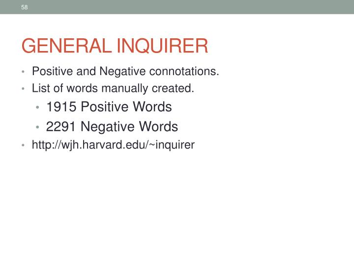 GENERAL INQUIRER