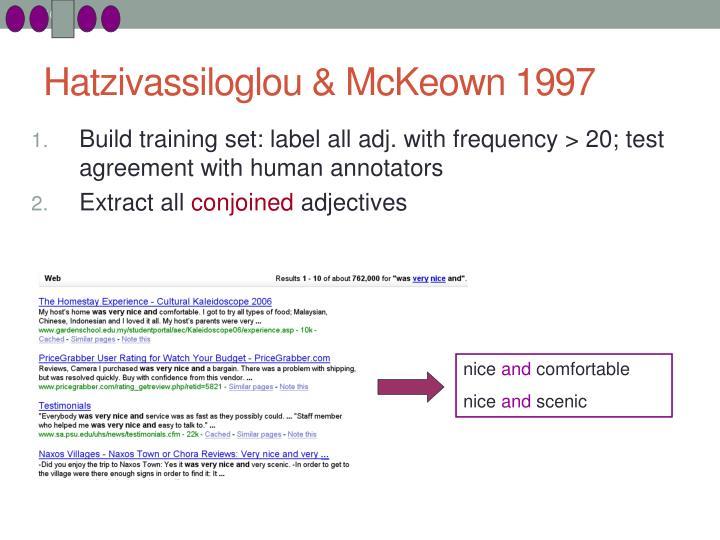 Hatzivassiloglou & McKeown 1997