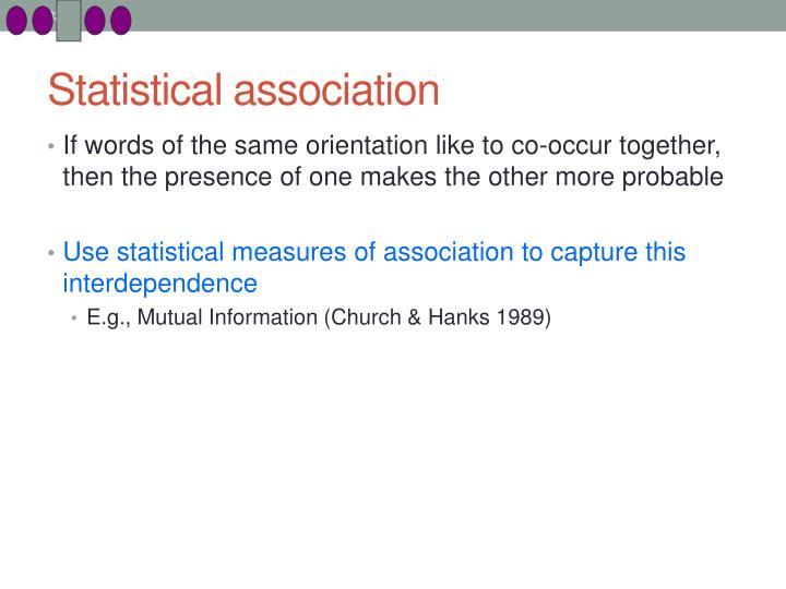 Statistical association