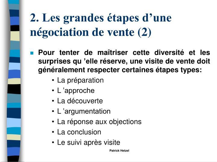 2. Les grandes étapes d'une négociation de vente (2)