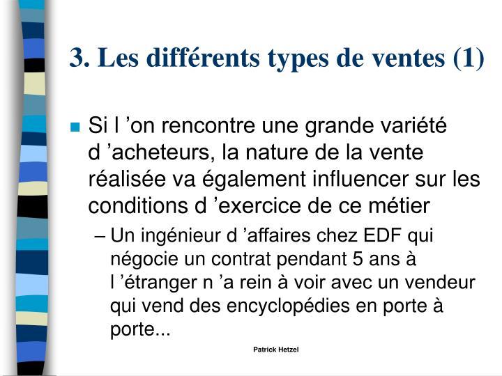 3. Les différents types de ventes (1)