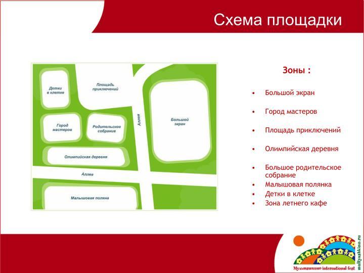 Схема площадки