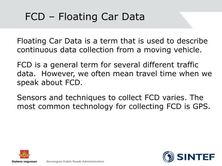 FCD – Floating Car Data