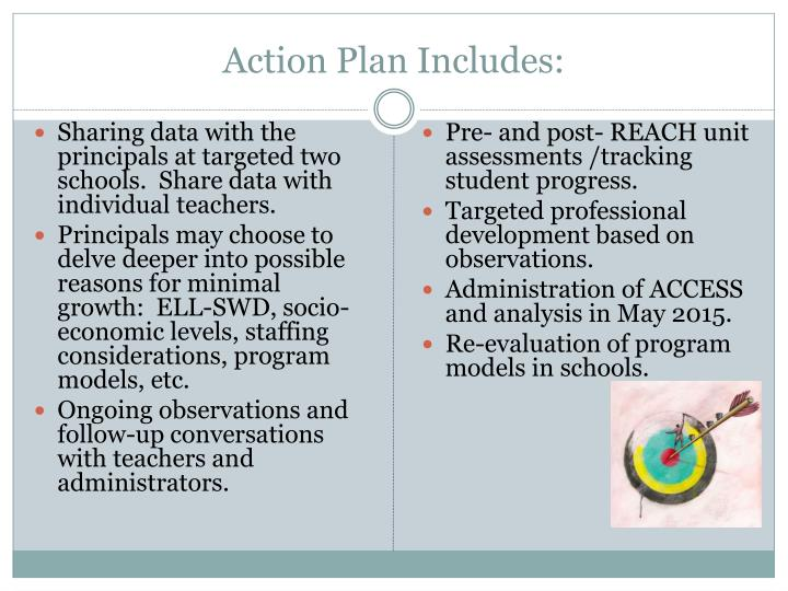 Action Plan Includes: