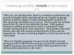 celebrating our ells growth at convocation
