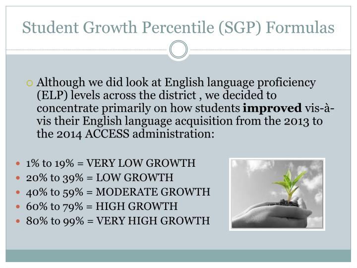 Student Growth Percentile (SGP) Formulas