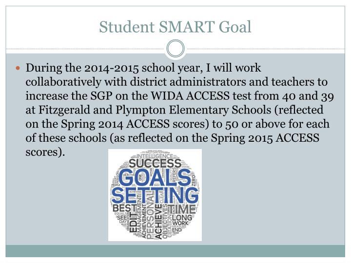 Student SMART Goal