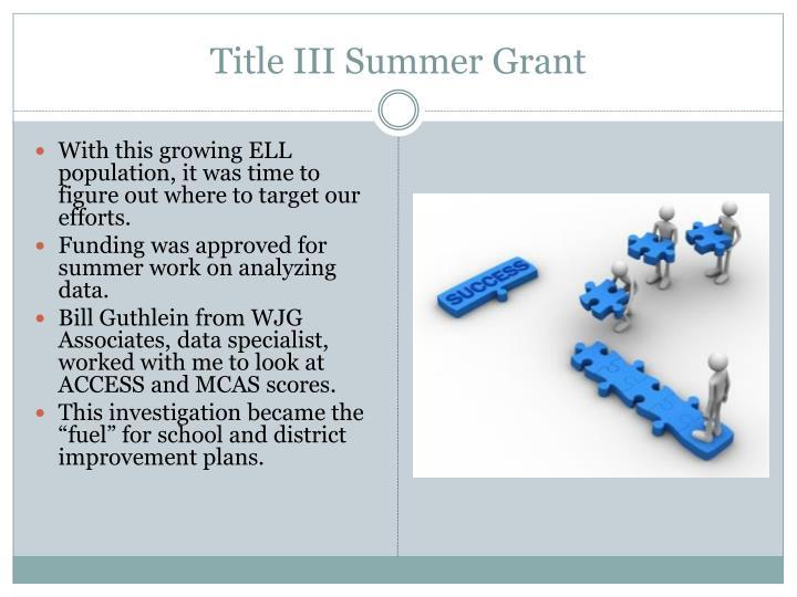Title III Summer Grant