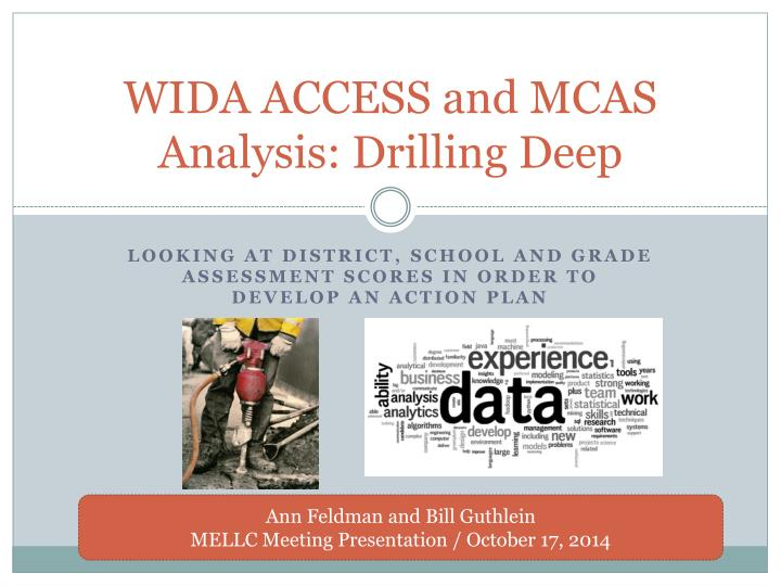wida access and mcas analysis drilling deep