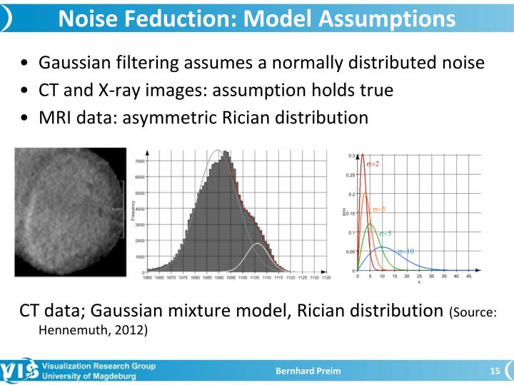 Noise Feduction: Model Assumptions