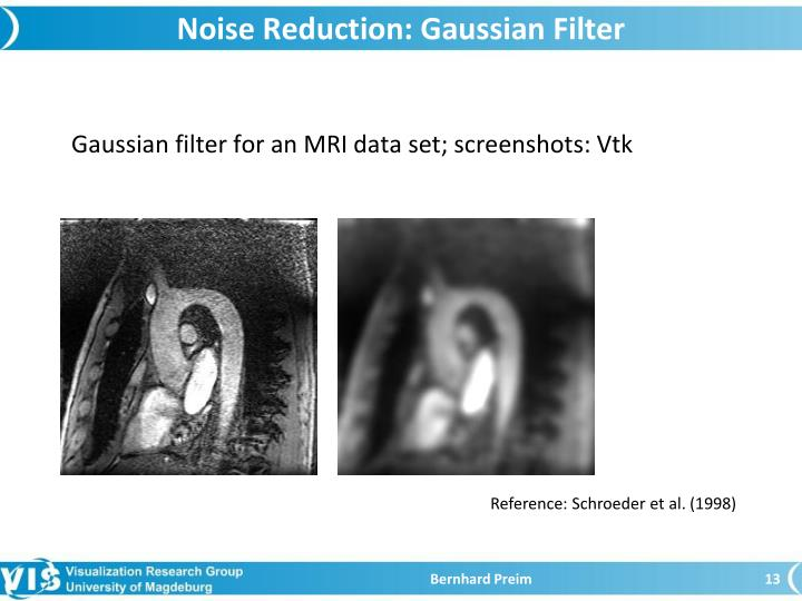 Noise Reduction: Gaussian Filter