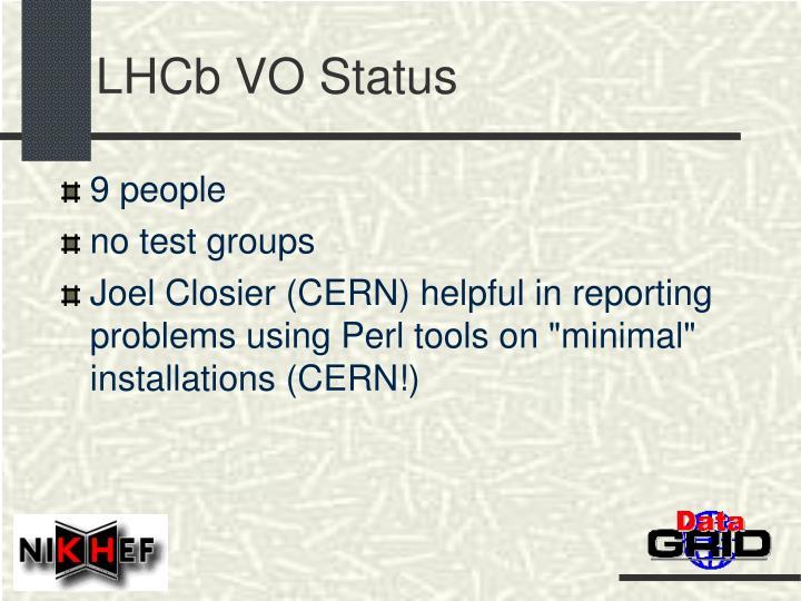 LHCb VO Status