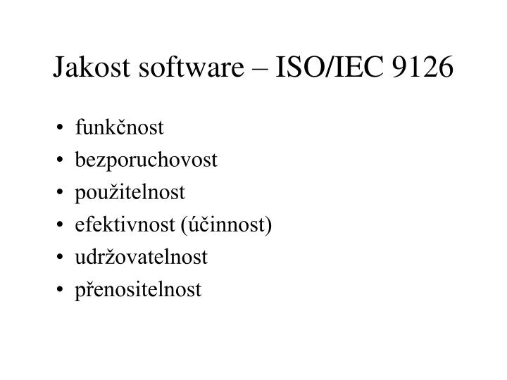 Jakost software – ISO/IEC 9126