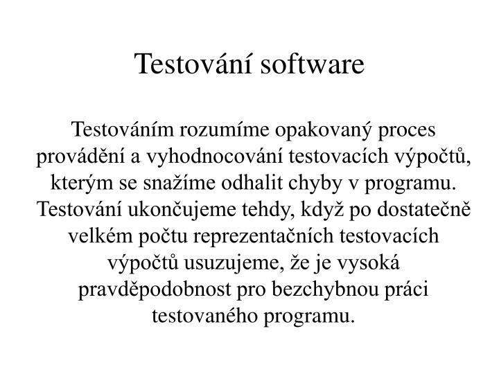 Testování software