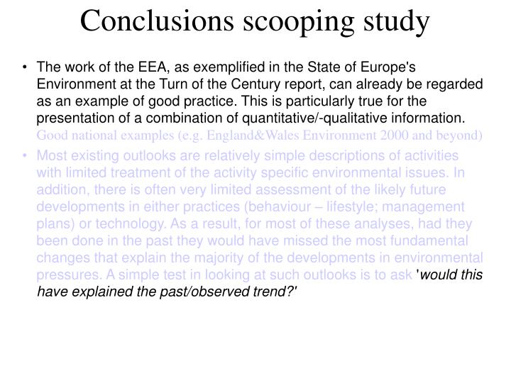 Conclusions scooping study