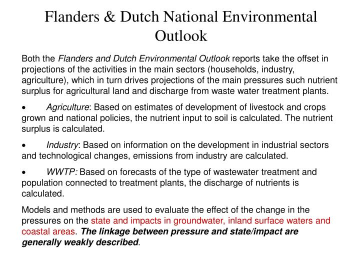 Flanders & Dutch National Environmental Outlook